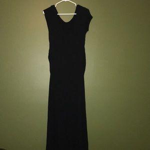Black maxi maternity dress